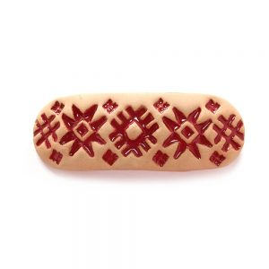 Заколка для валасоў з арнаментам керамічная