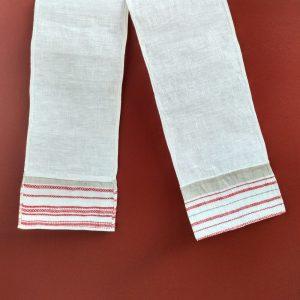 Тканіна-памятка з тканымі канцамі